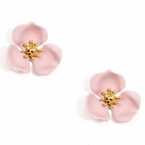 Zenzii Blooming Lotus Flower Post Earrings